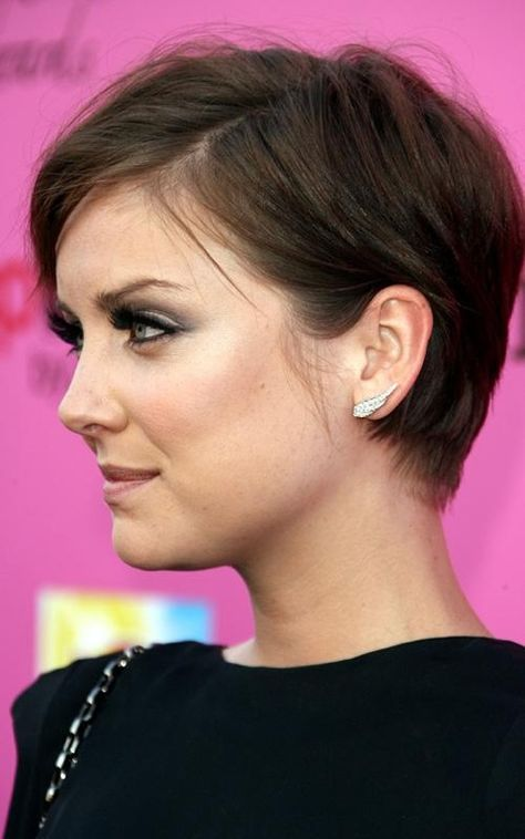Short hair, but slightly longer than mine. Like it pulled behind the ears.