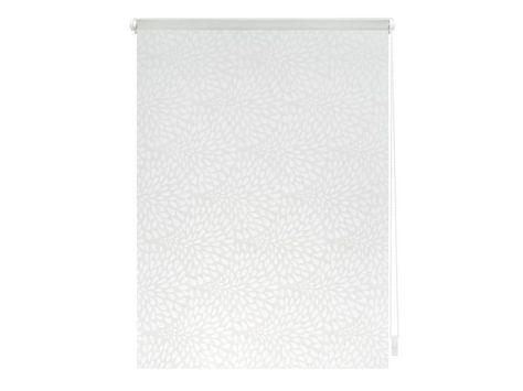 Lichtblick Rollo Klemmfix, ohne Bohren, blickdicht, Drops - Weiß Transparent 1