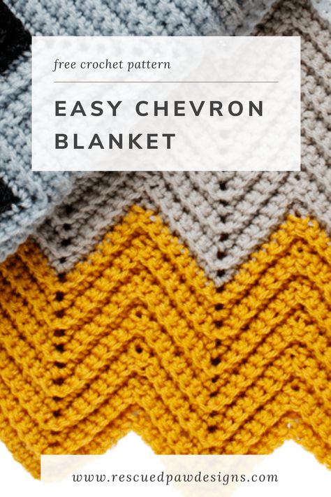 Learn how to make this simple chevron pattern to create the wonders crochet chevron blanket! Free Crochet pattern from Easy Crochet