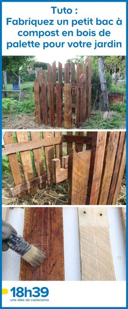 Tuto Fabriquez Un Petit Bac A Compost En Bois De Palette Pour Votre Jardin Fabriquer Un Composteur Composteur Bois Composteur
