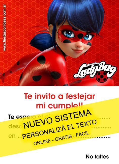 Tarjeta De Cumpleaños De Ladybug Para Imprimir Texto
