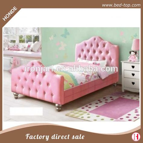 Source S Princess Bed Pink Pu Leather Twin Frame Y