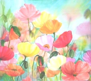Celebrating Colour Silk Painting Using Watercolour Technique No