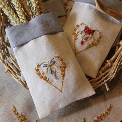 In a A Wheat Field / In Un Campo di Grano Embroidery Book by Elisabetta Sforza from Italy