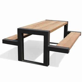un design moderne pour un banc et table