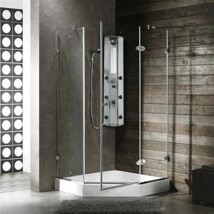 Vg6061chcl38w 38 X 38 Shower Enclosure With Frameless Neo Angle
