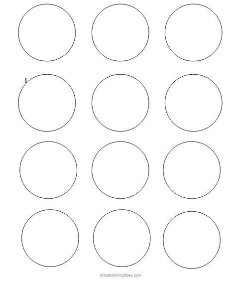 Free Printable Circle Templates Large Small Stencils Printable Circles Circle Template Printable Snowflake Template
