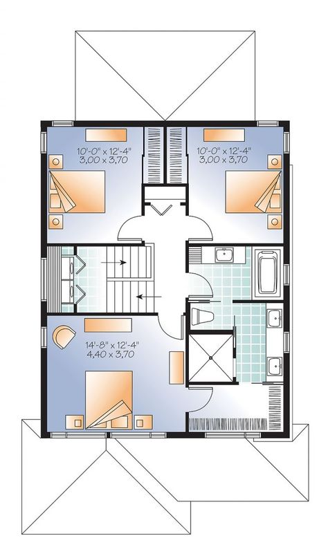 2nd Level Modern Narrow Lot House Plan With Garage Large
