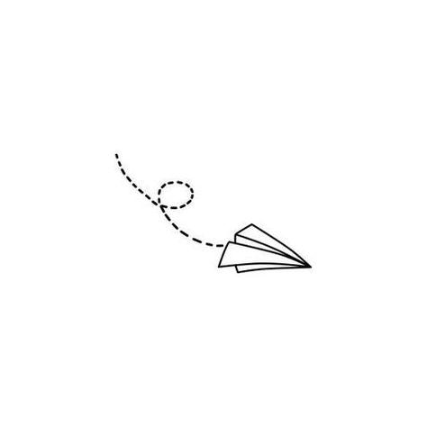 Paper Plane Temporary Tattoo (Set of 2)