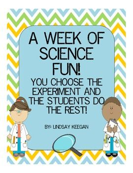 Science Experiment Observation Journal/Class Activities