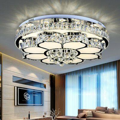 Details About Led Crystal Pendat Lamp Modern Flower Shaped Bedroom Living Room Ceiling Light In 2020 Ceiling Lights Ceiling Light Design Crystal Chandelier Lighting