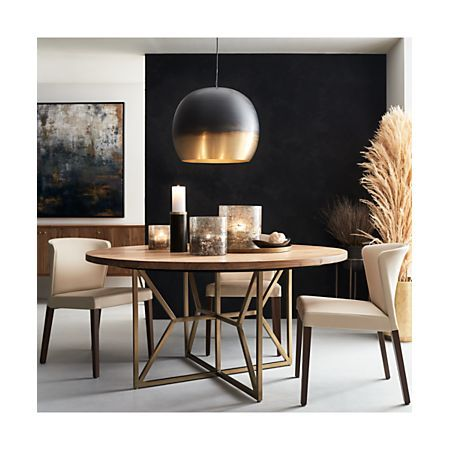 Hayes 60 Round Acacia Dining Table Reviews Crate And Barrel In 2020 Dining Chair Design Dining Room Design Home Decor