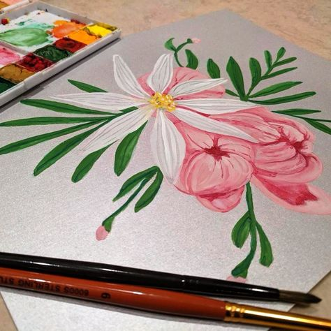 Gouache On Silvery Cardstock I Love This Paper Art Artsy