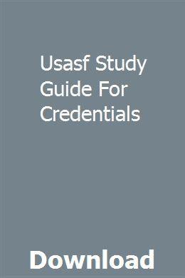 Usasf Study Guide For Credentials Study Guide Manual Rrt Exam