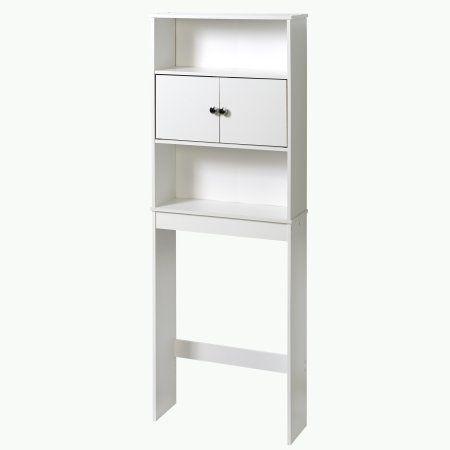 Over The Toilet Bath Cabinet Bathroom Space Saver Storage Organizer White Finish