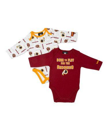 Washington Redskins Personalized Girls Custom Jersey Bodysuit Shirt Set Outfit