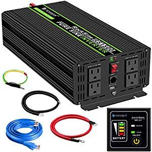 3000w 6000w Power Inverter Dc 12v To Ac 120v With Remote Control Led Display Dual Ac Outlets For Truck Rv Boat Amaz In 2020 Power Inverters Sine Wave Remote Control