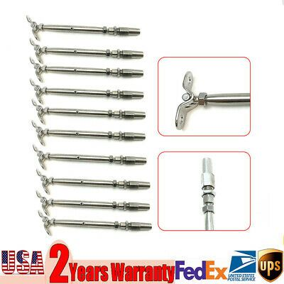 Ad Ebay New Stainless Steel 10pcs Swage Turnbuckle 1 8 Inch Cable For Indoor Or Out In 2020 Stainless Steel Cable Railing Stainless Steel Cable Stainless Steel Wire