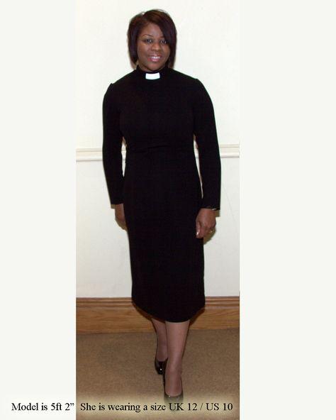 ee73c1201cb Three Quarter Length Clergy Dress in 2019