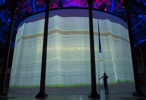 ron arad's curtain call uses 5,600 silicon rods to create a 360, Attraktive mobel