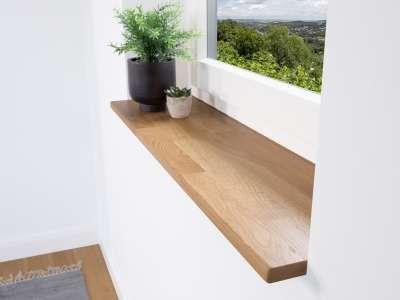Fensterbank Holz Modell Eiche Astig Mit Versiegelung Oder Ohne Slim Oder Premium Gunstige Preise Schnelle Lieferung Auf Fensterbanke Holz Eiche Holz