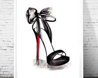 Christian Louboutin Illustration Fashion Wall Art Fashion Print Fashion Sketch High He Summer Fashion Dresses Casual Fashion Design Patterns Fashion Poster