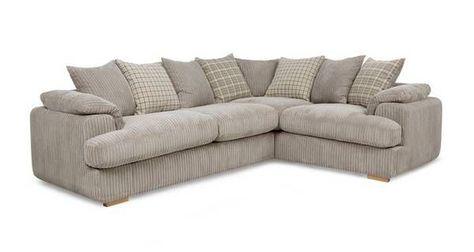 Celine Left Arm Facing 2 Seater Pillow Back Corner Sofa Corner Sofa Bed