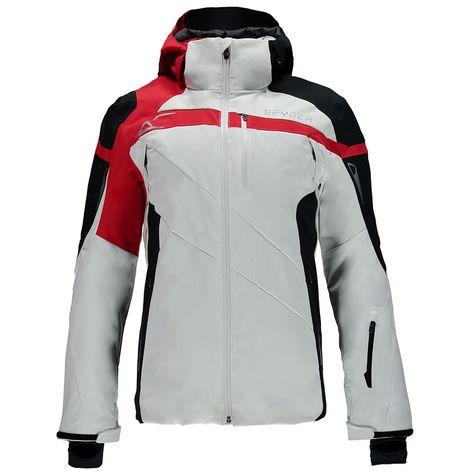Spyder Titan Jacket Herren Skijacke weiß schwarz rot #spyder