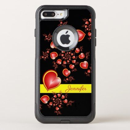 With Much Love Red Yellow Hearts Fractal Art Name Otterbox Iphone Case Zazzle Com Iphone Cases Otterbox Otterbox Iphone Yellow Heart