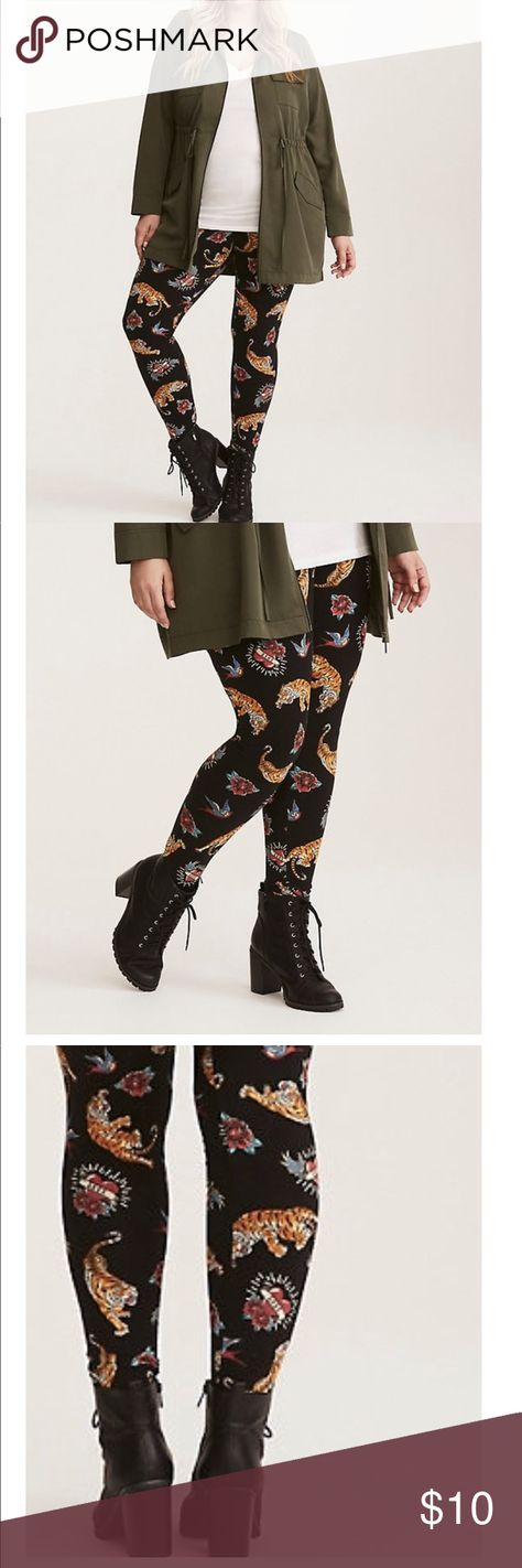 3f570c0b9c2 New Torrid tiger leggings size large Inspired by old-school sailor tattoo  designs