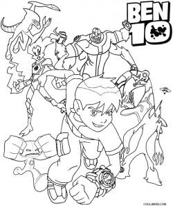 Printable Ben Ten Coloring Pages For Kids Cool2bkids Coloring Pages Coloring Pages For Kids Coloring Books