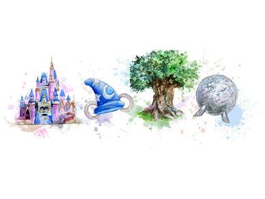 Disney Parks Magic Animal Kingdom Epcot Disneyland Watercolor Sublimation Digital Png Animal Kingdom Disney Disney Images Disney Parks