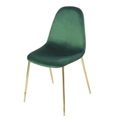 Chaise Style Scandinave En Velours Vert En 2020 Chaise Style Scandinave Chaise Scandinave Chaise Maison Du Monde
