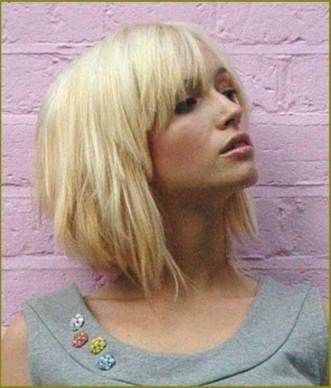 Bild Für Frisuren Mit Pony Mittellang Und Stufen Frisuren