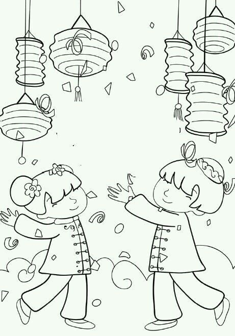 chinese new year lantern coloring page Chinese New Years - fresh chinese new year zodiac coloring pages