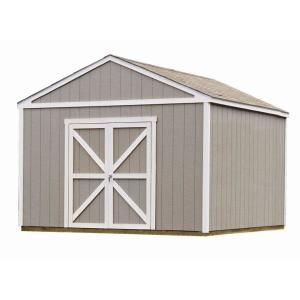 Handy Home Products Berkley 10 Ft X 16 Ft Wood Storage Building Kit With Floor 18515 1 The Home Depot Wooden Storage Sheds Outdoor Storage Sheds Shed Storage