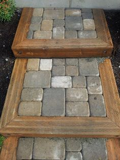 Install a flagstone, gravel, or paver walkway in a weekend or less! Use these three DIY walkway ideas to add interest to your yard—our easy how-tos walk you through every step of the process. Outdoor Walkway, Outdoor Steps, Backyard Patio, Backyard Landscaping, Outdoor Decor, Landscaping Ideas, Front Walkway, Pavers Patio, Deck Steps