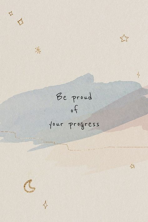 Be proud of your progress motivational quote social media post   free image by rawpixel.com / NingZk V.