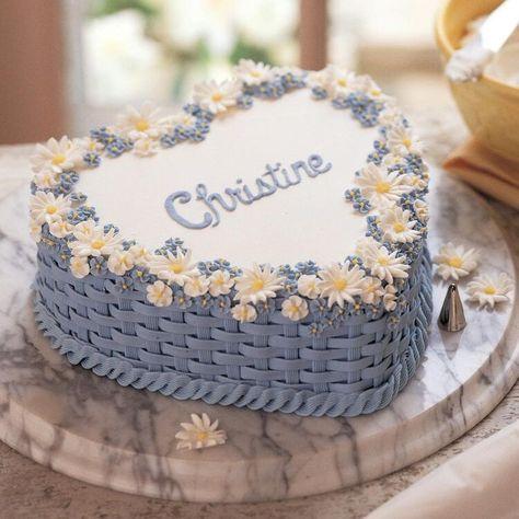 Pretty Birthday Cakes, Cute Birthday Cakes, Pretty Cakes, Beautiful Cakes, Amazing Cakes, Cake Decorating Designs, Cake Designs, Easy Cake Decorating, Cake Borders