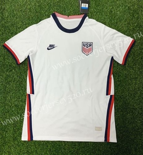 2020 2021 Usa Home White Thailand Soccer Jersey 407 In 2020 Soccer Jersey Soccer Jersey