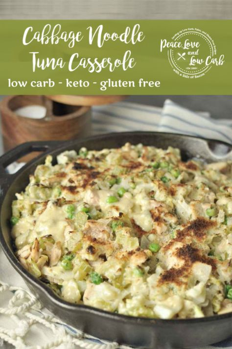 Low CarbTuna Casserole - This is my low carb, gluten free take on a traditional childhood classic. You won't even miss the pasta! #keto #lowcarb #casserole #hotdish #tunacasserole