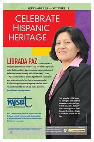 Librada Paz Is A Mexican American Farm Worker Rights Activist Who Came To The U S At 15 To Wo Hispanic History Month Hispanic Heritage Month Hispanic Heritage