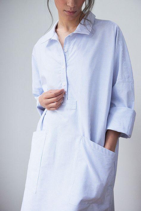 Everyday shirt, blue stripe, classic cotton shirt