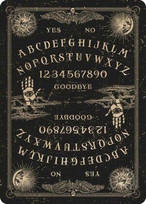 Planchett Fortune Bizarre Magic Old North America Ouija Board laminated sheet