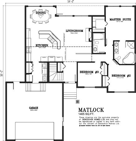 Deneschuk Homes 1400 1500 sq ft Home Plans RTM and Onsite new