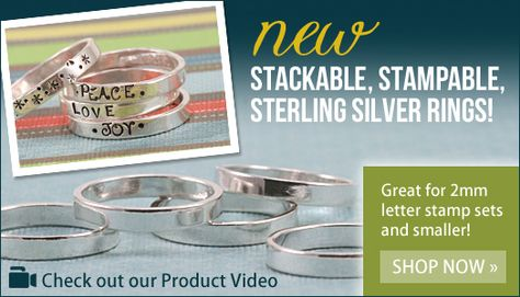 How cute are these new stackable rings from Beaducation? #stamped #jewelry #rings