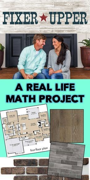 Fixer Upper Math Project - Real World Math Fun, real world math project - students use area, volume, and unit conversions to purchase and fix up their fixer upper. Perfect for middle school or high school math. Teaching Geometry, Teaching Math, Math Teacher, Math Classroom, Math Math, Math Games, Maths Fun, Math Fractions, Classroom Decor