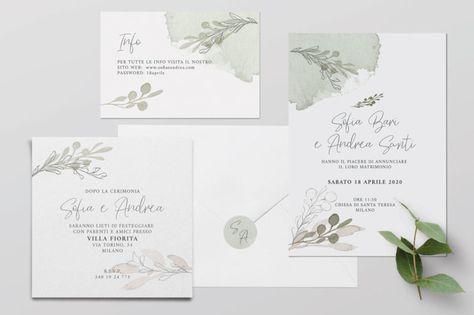 Inviti Nozze Partecipazioni Wedding Invitation Inviti Verde Grennery Foglie Inviti Naturali Ulivo Inviti Per Matrimonio Partecipazioni Nozze Matrimonio