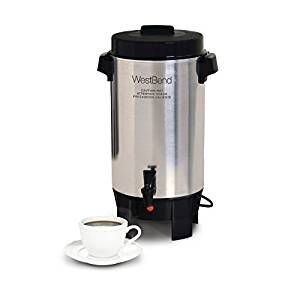 West Bend 58002 Highly Polished Aluminum Commercial Coffee Urn Features Automatic Temperature Control Large Capacity With Quick B Coffee Urn Best Coffee Coffee