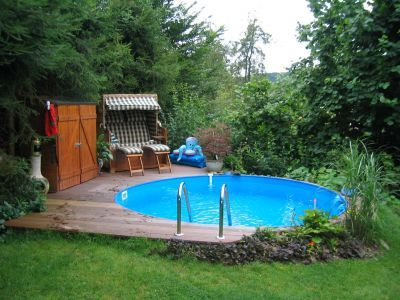 Intex Pool eingegraben Backyard Ideas Pinterest Ground pools